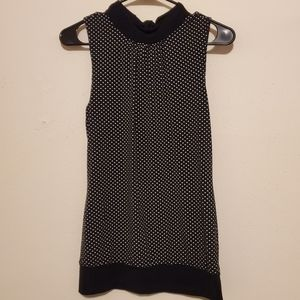 Polka Dot Blouse with tie on back of neck